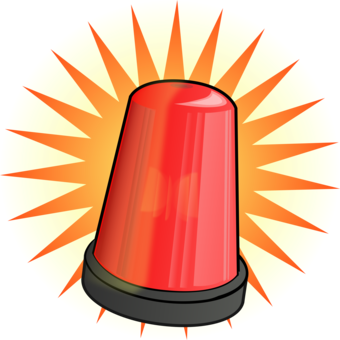 Emergency clipart. Vehicle lighting siren police