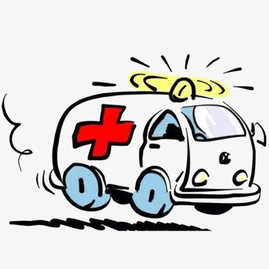 Emergency clipart. Ambulance speed urgent red