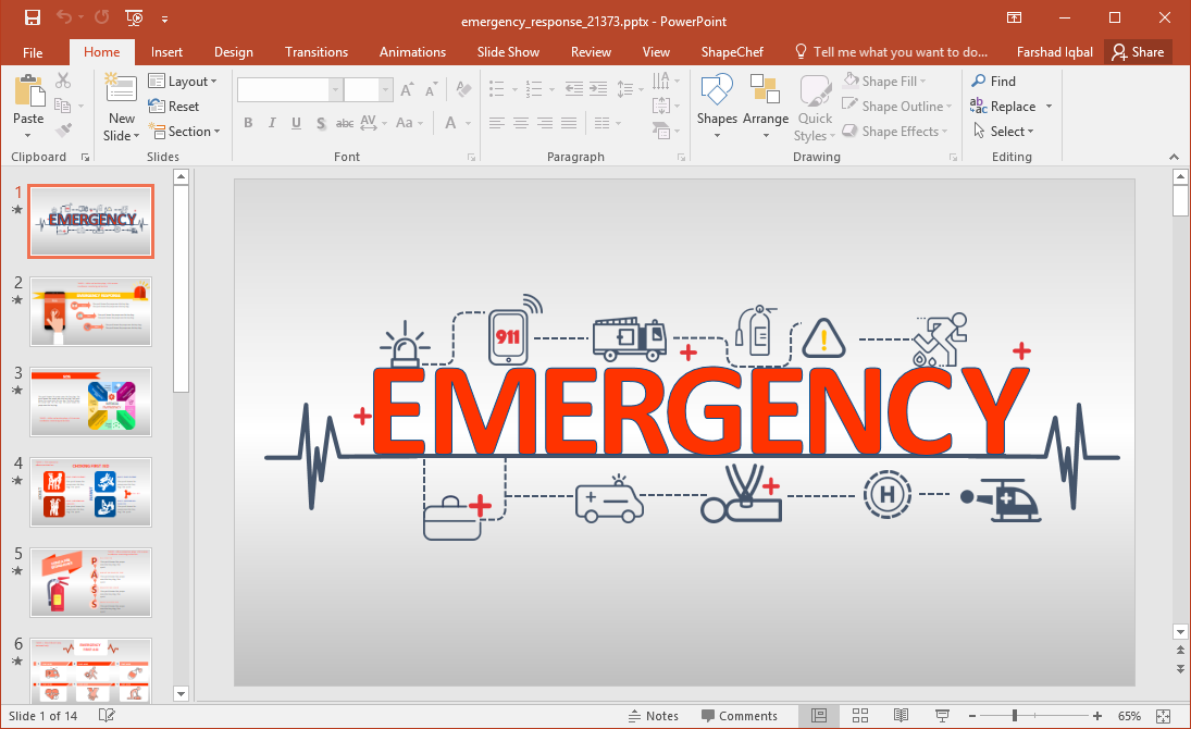 Emergency clipart emergency response. Animated training powerpoint template