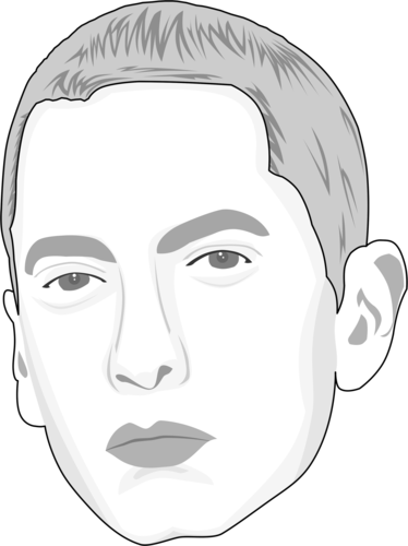 Eminem head png. Caricature by thecartoonist caricate