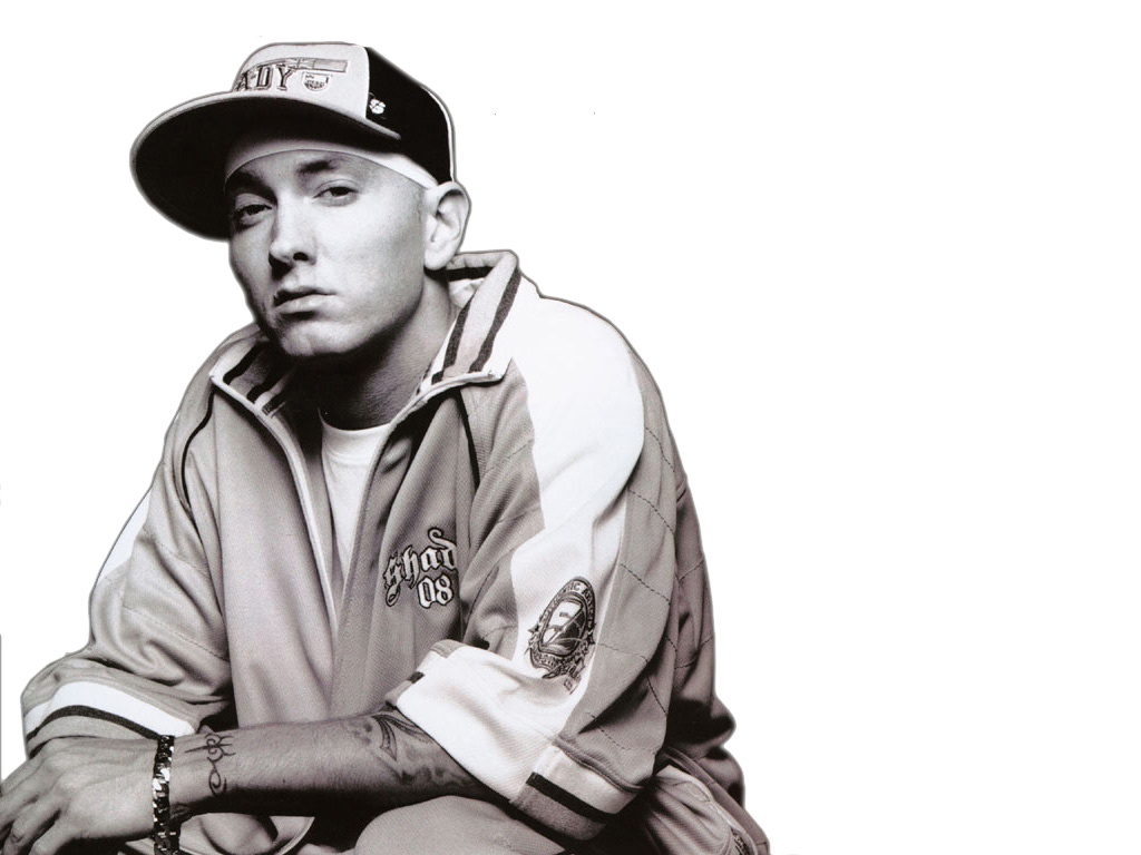 Eminem png. Wearing cap and t