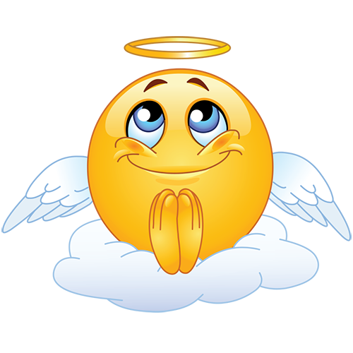 Emoji angel png. Emoticon pinterest smiley and