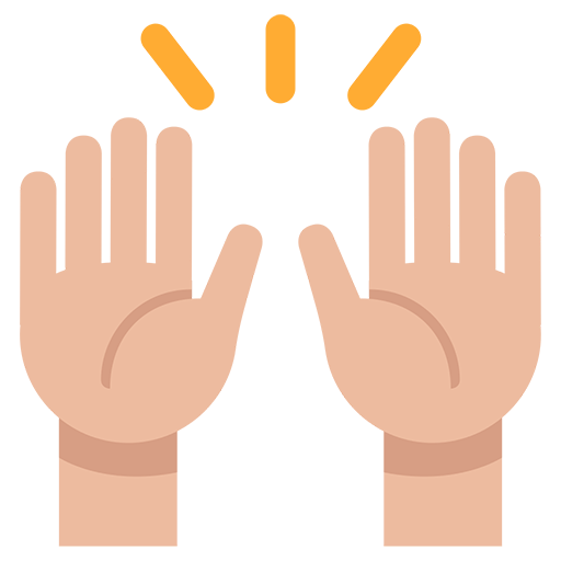 Emoji celebration png. Person raising both hands