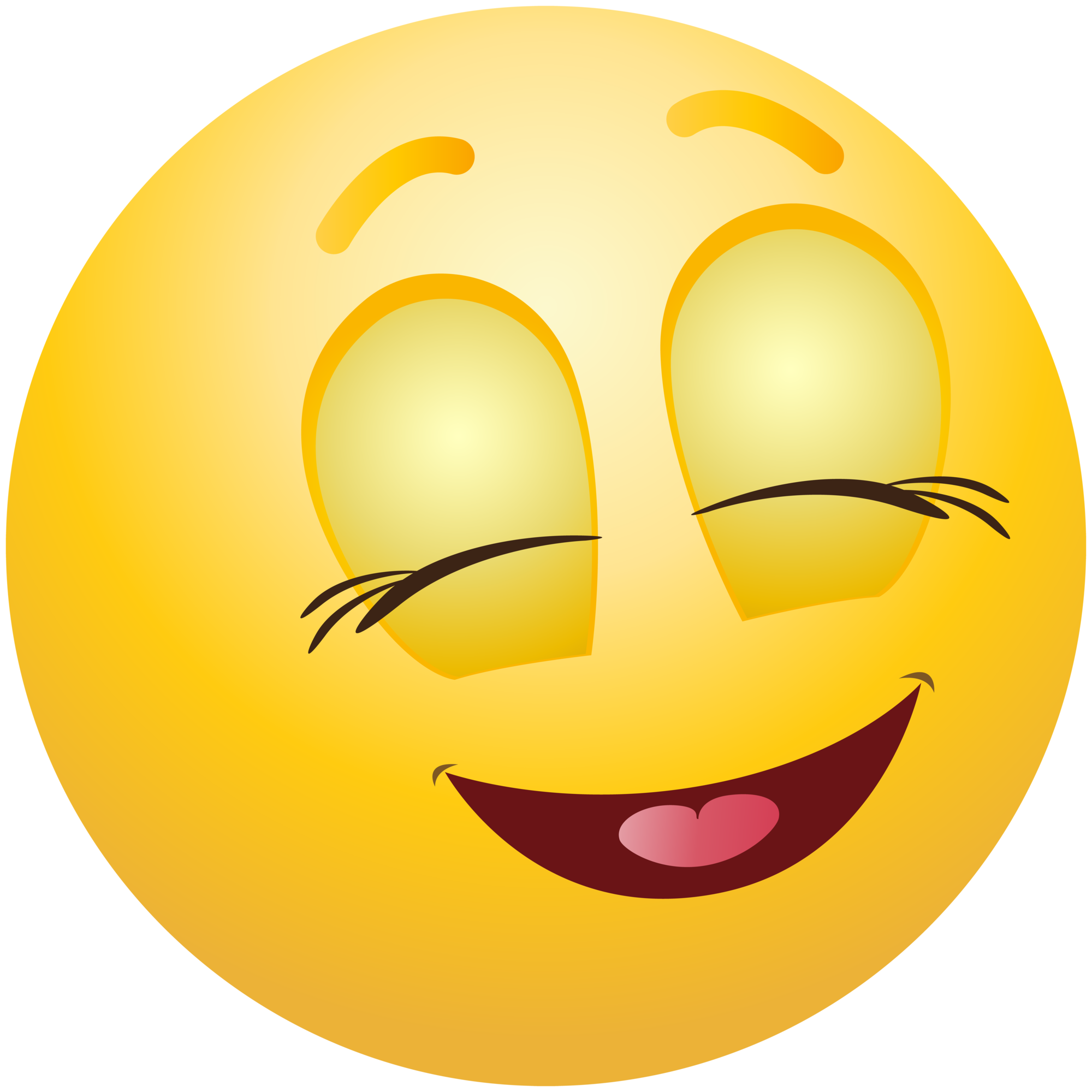 Emoji clipart. Pleased emoticon info