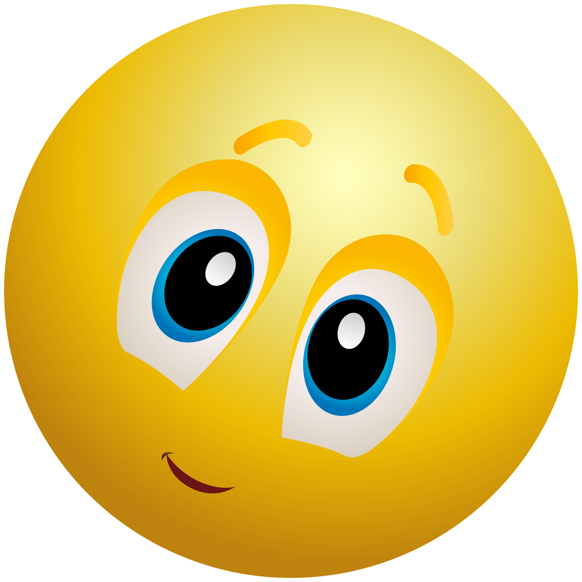 Emoji clipart. Kindly face emoticon info