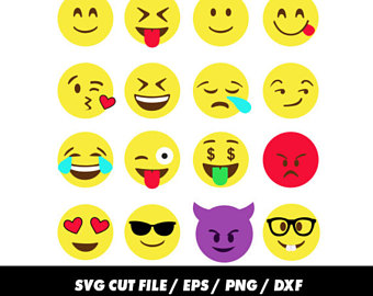 Emoji clipart file. Svg etsy smiley faces