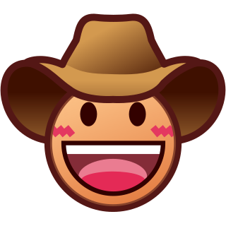 Emoji clipart hat. Face with cowboy ye