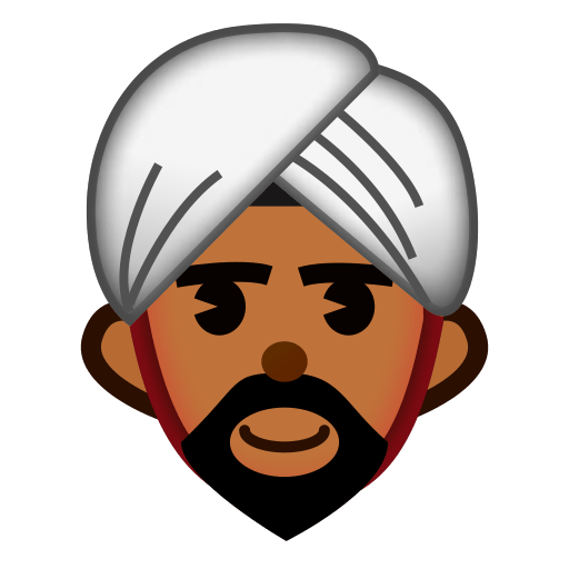 Emoji clipart person. Man with turban for