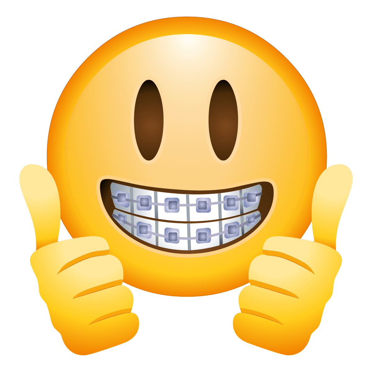 Emoji png. Braces face transparent stickpng