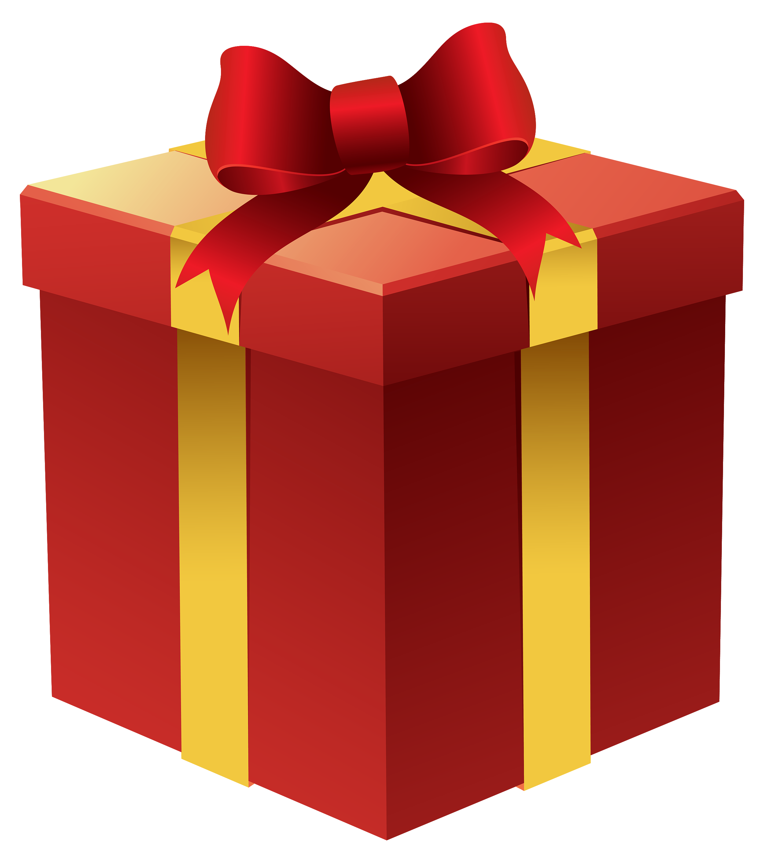 Emoji clipart present. Gift box in red
