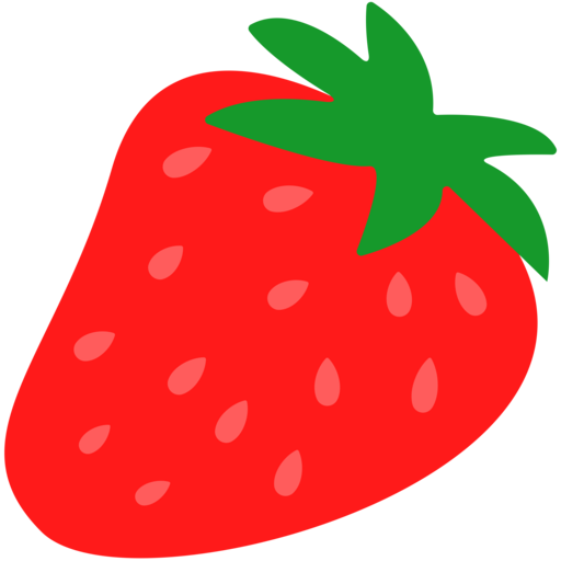 emoji clipart strawberry