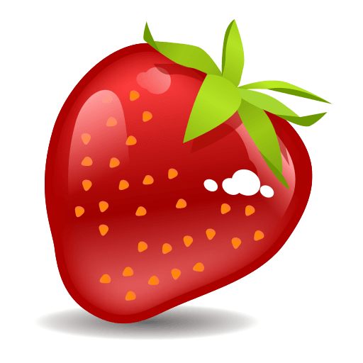 Emoji clipart strawberry. For facebook email sms