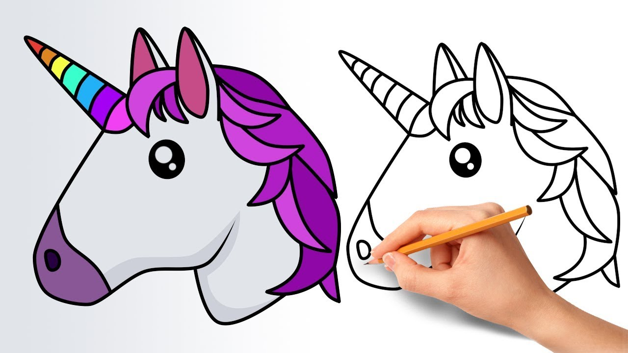 Emoji clipart unicorn. How to draw a