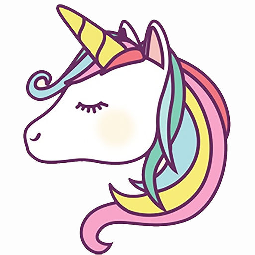 Emoji clipart unicorn. Unicorns and stickers by