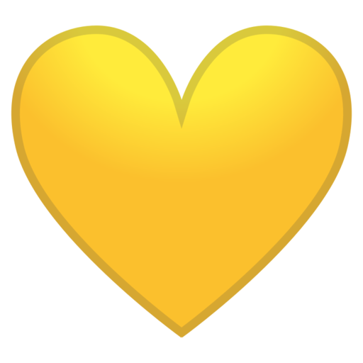 Yellow heart emoji png. Google android pie