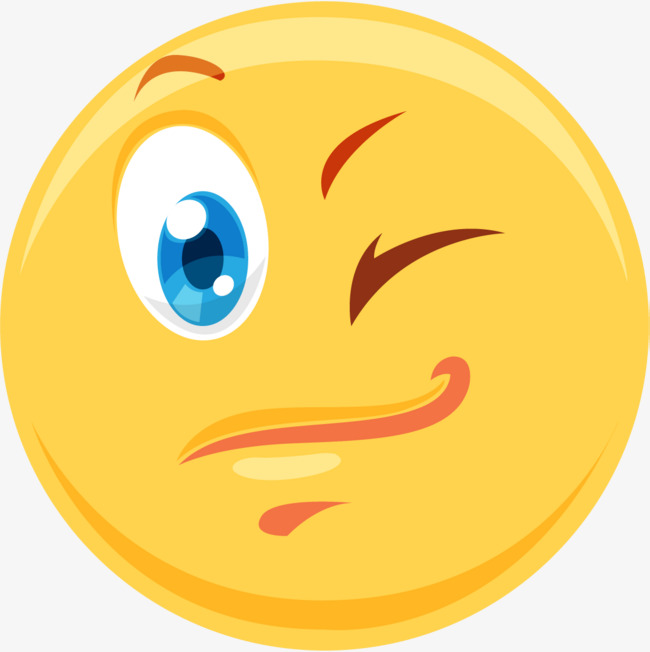 Emoji download. Wink blinks cartoon emoticon