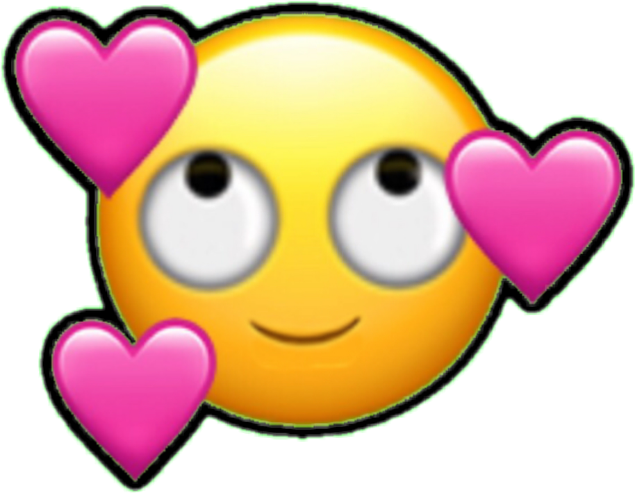 Emoji enamorado png. Emoticono emoticon cara corazon