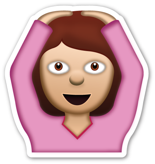 Emoji girl png. Face with ok gesture
