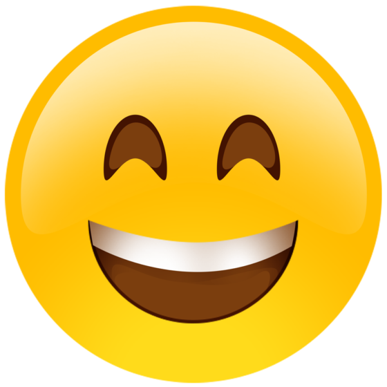 Emoji happy face png. Cutouts oversized build a