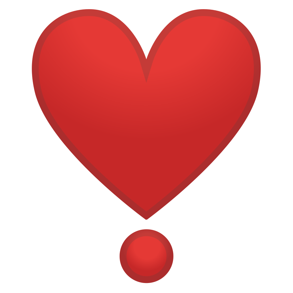 Emoji heart png. Heavy exclamation icon noto