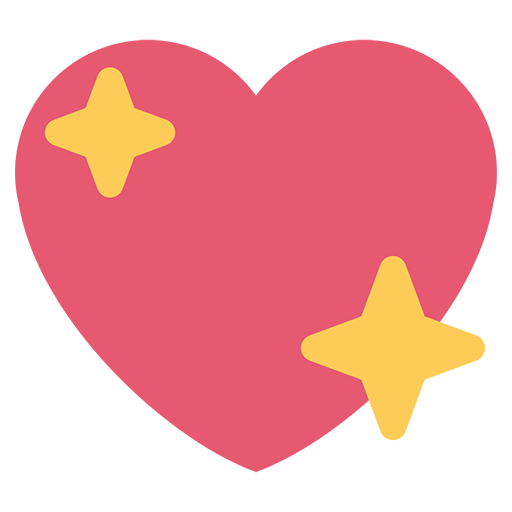 Sparkling emoji for email. Facebook heart png picture black and white stock