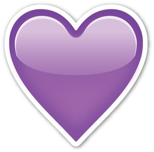 Emoji hearts png. Purple heart april onthemarch