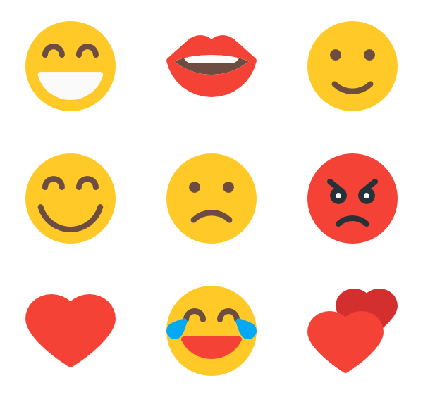 Emoji icons png. Icon packs vector