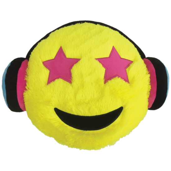 Emoji pillow png. Headphones furry embroidered iscream