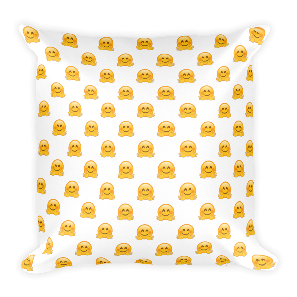Emoji pillow png. Hugging face just facejust