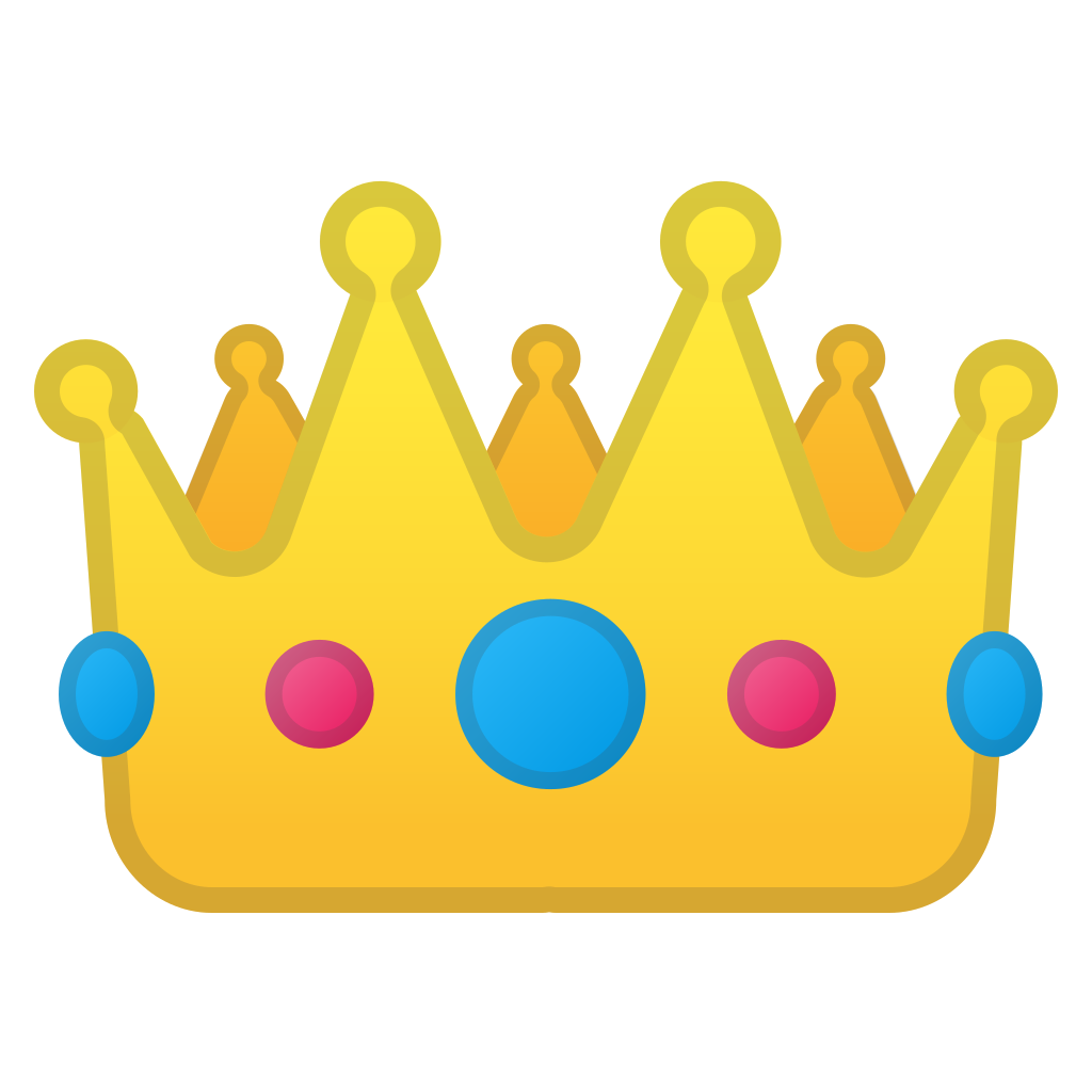 Emoji png crown. Icon noto clothing objects