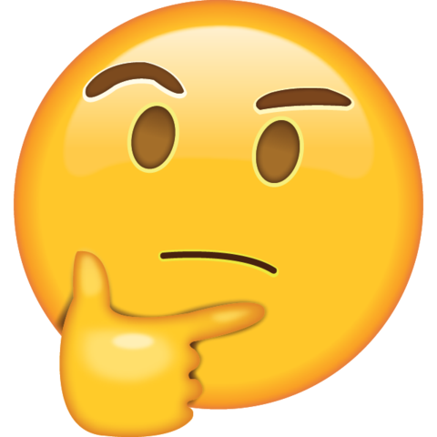 Emoji png download. Thinking icon in island
