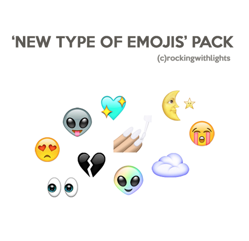 Emoji png pack. Free aesthetic packs