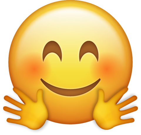 Emoji png transparent. Hugging icon