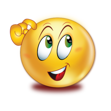 Emoji thinking png. Open eyes