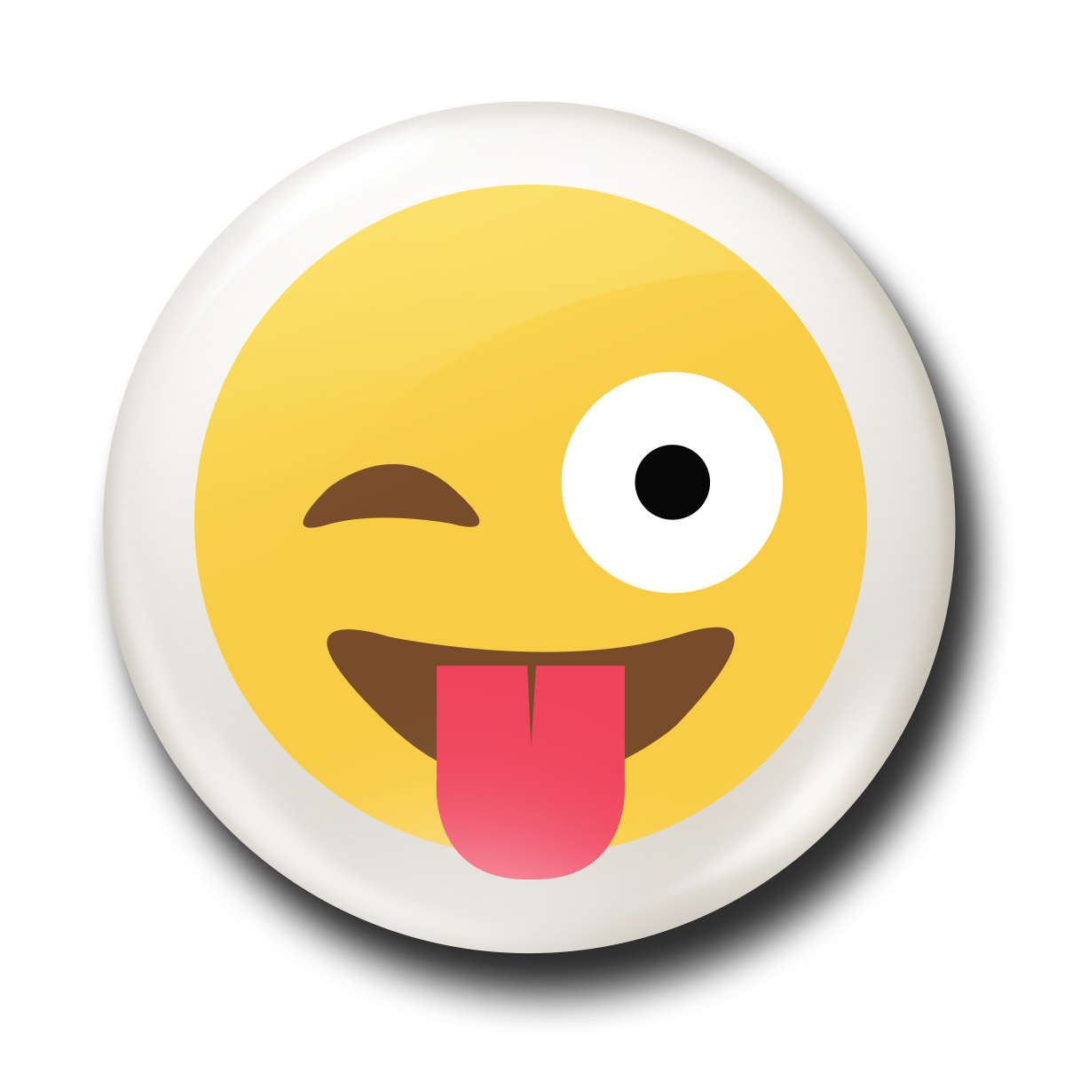 Tongue out emoji png. Stick the badge works