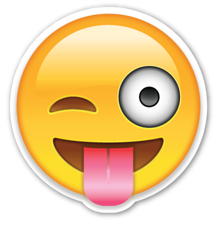 Sticking tongue out emoji png. Smiley face with transparent