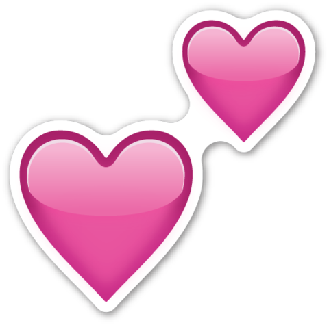 Emoji whatsapp corazones png. Two hearts emojis and