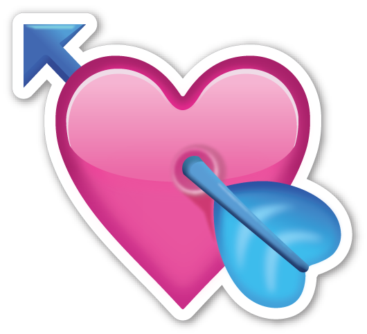 Emojis de whatsapp corazones png. Heart with arrow special