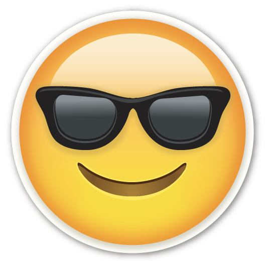 Emojis de whatsapp uno por uno png. Smiling face with sunglasses