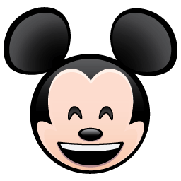 Emojis drawing character. Click on mickey to