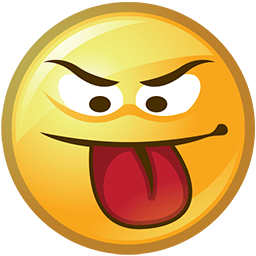 Emoji clipart tongue. Out angry emoticon smileys
