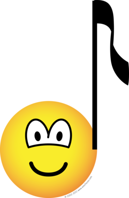 Emoticon musical notes png. Music note emoticons emofaces