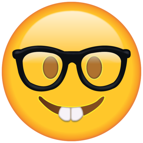 Emoticons png download. Nerd emoji icon a