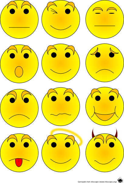 Emotions clipart. Free