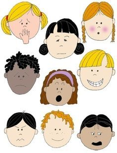 Emotions clipart printable. Faces kids clip art