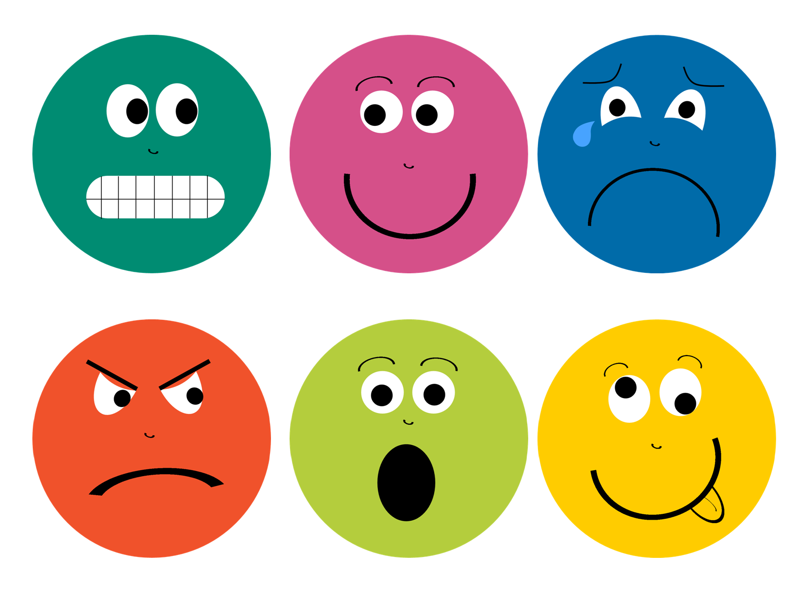 Emotions clipart printable. Feelings faces library pinterest