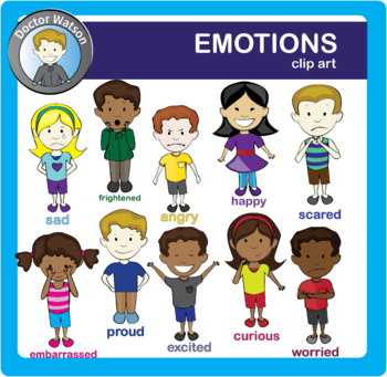 Emotions clipart. By doctor watson teachers