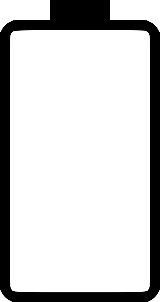 Empty battery png. Svg icon free download