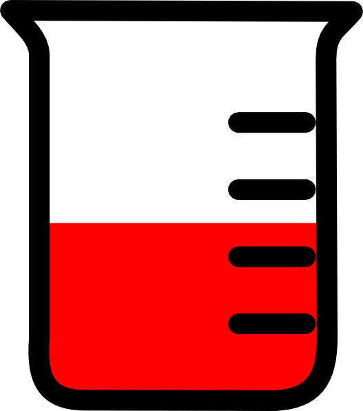 Empty beaker graphic png. Red clip art at