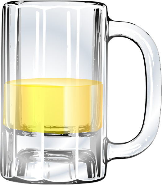empty beer glass png